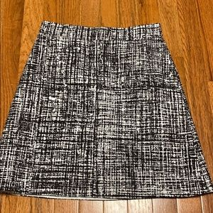 Kate Spade Black/white A-Line Skirt 0